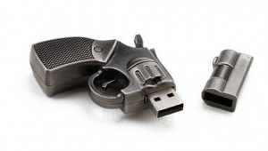 PENDRIVE USB 4 GB PISTOLET BROŃ REWOLWER