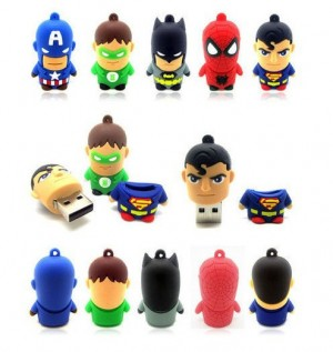 PENDRIVE USB BATMAN SUPERMAN SPIDERMAN ZIELONA LATARNIA KAPITAN AMERYKA PUNISHER SUPERBOHATER 16 GB